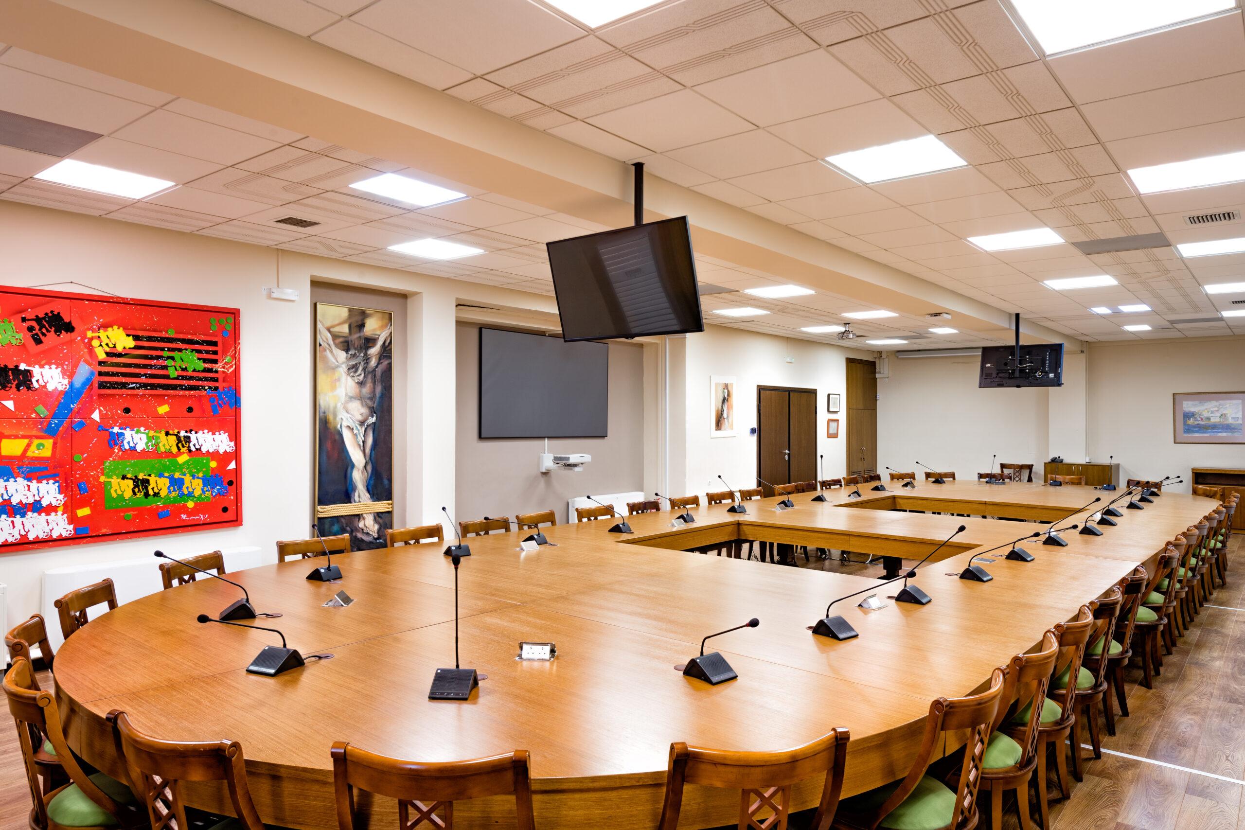 Πανεπιστήμιο Πατρών- Αίθουσα Συγκλήτου-Κτίριο Πρυτανείας